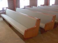 Church Pew Upholstery After